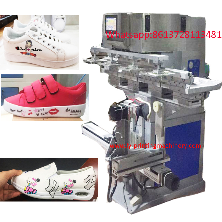 360 degree Shoe 4 color pad printer